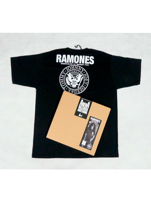 box tshirt ramones black back