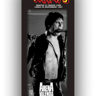 BANNER THE CRAMPS 1990 -LUX INTERIOR