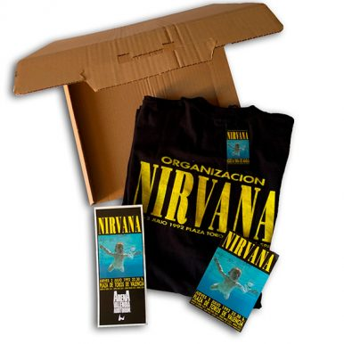 BOX NIRVANA 1992 + FLYER + STICKER – ORGANIZACIÓN